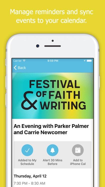 Festival of Faith & Writing screenshot-3