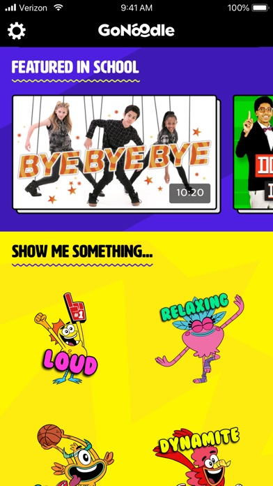 Screenshot for GoNoodle in United States App Store