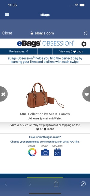 b2ffedbe27 eBags on the App Store