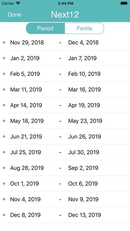 iPeriod Lite Period Tracker screenshot-7