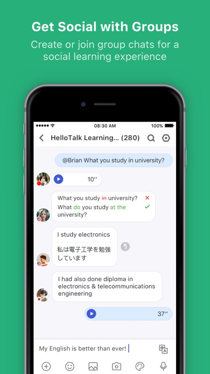 HelloTalk Learn Language Fast screenshot-4