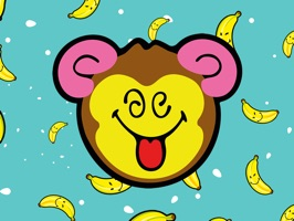 Pack of 32 Smiley Monkey stickers from SmileyWorld
