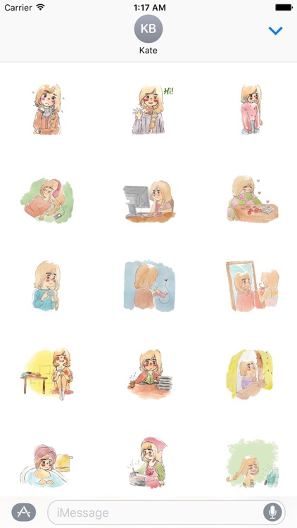Lonely Girl in Winter Sticker