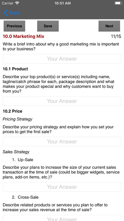 Marketing Plan App