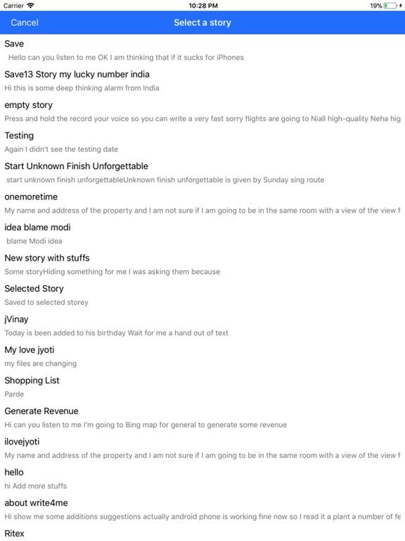 Write4Me - Voice to Text,Story screenshot 8