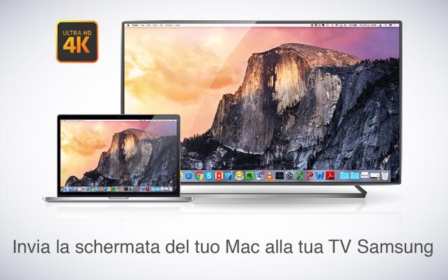 collegare mac a tv samsung wifi