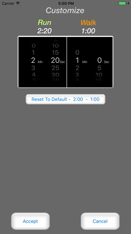 Running Interval Timer Pro screenshot-2