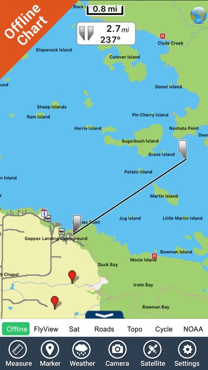 Voyageurs National Park - GPS Map Navigator