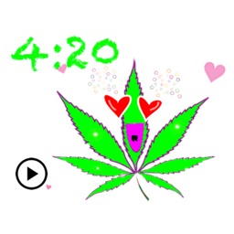 Animated Happy Weed Sticker