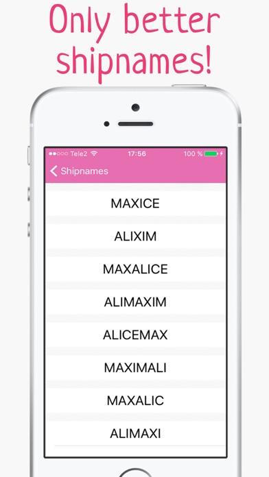 Ship name generator - Mixer of names for couple | App Price