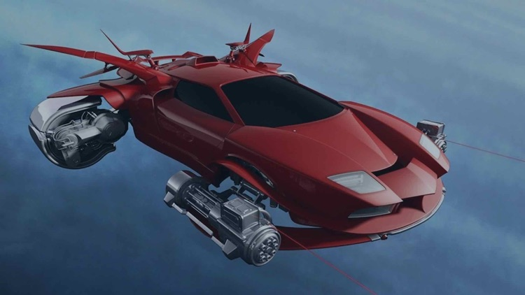 Flying Sports Car Driving Sim-Ulator Game