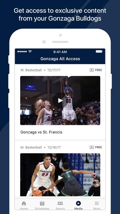 Gonzaga Athletics screenshot-3
