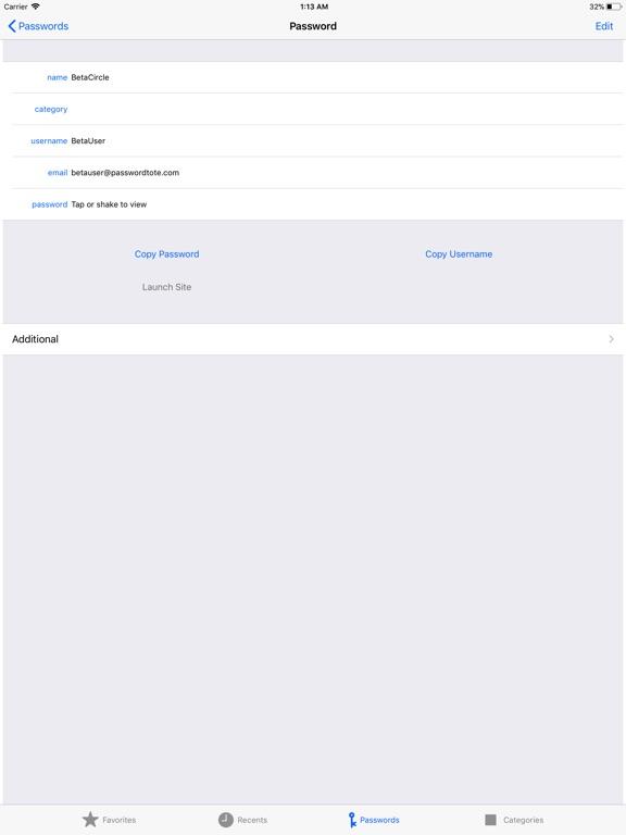 Password Tote iPad