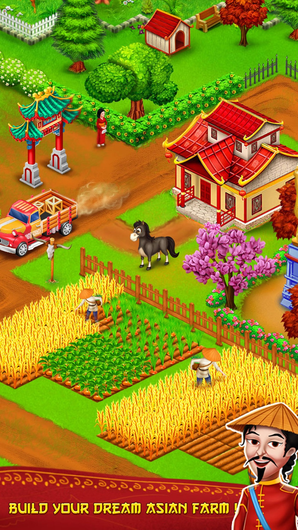 Asian Town Farmer-Offline Farm