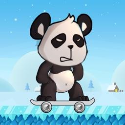Skater Panda-Tap to Run & Jump