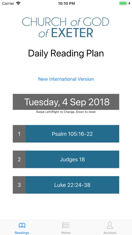 ChoGExeter Bible Reading Plan