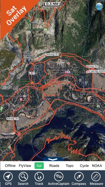 Yosemite National Park - GPS Map Navigator