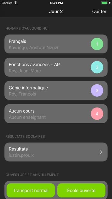 Portail des Élèves screenshot two