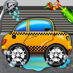 Taxi Car Wash Simulator 2D - Clean & Fix Automobiles in your Garage