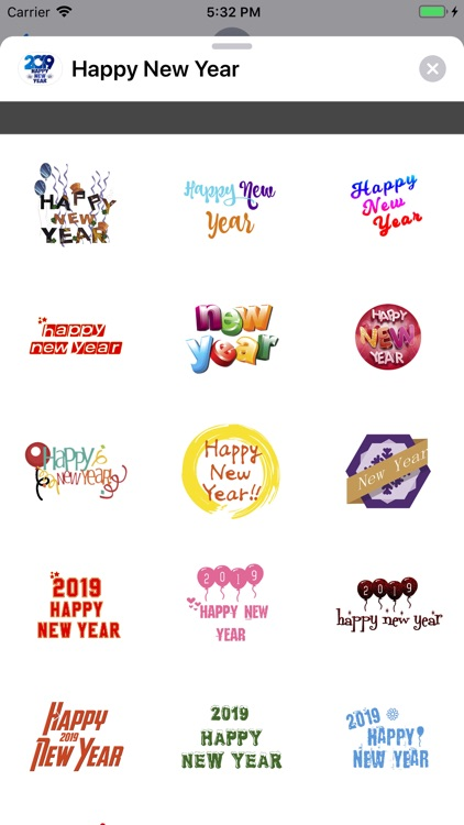 Stickers Happy New Year 2019 screenshot-1