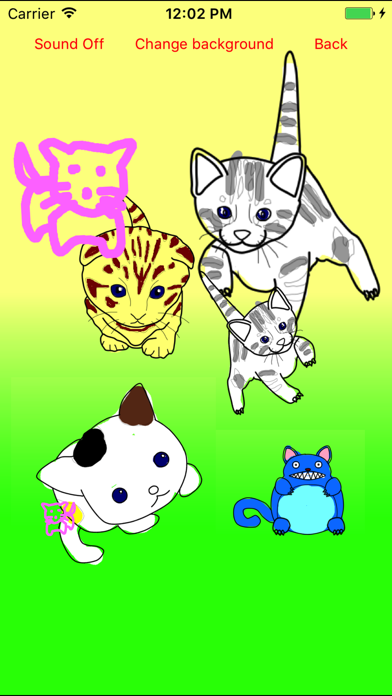 Kitten Cat Moves Coloring Book screenshot one