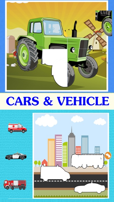 Vehicle kids learning : car and truck puzzle games screenshot two