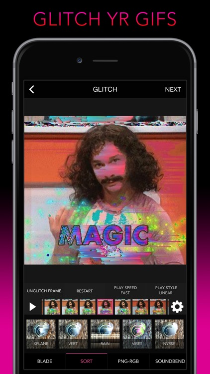 Glitch Wizard - Distort Photos to Trippy GIFs screenshot-0