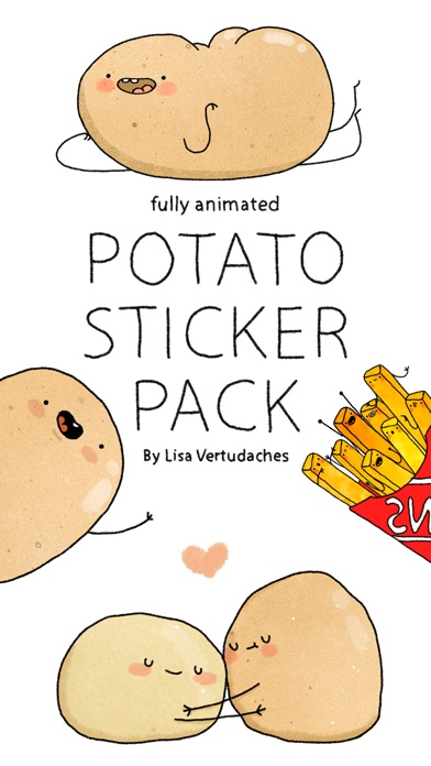 Screenshot #4 for Potato Sticker Pack