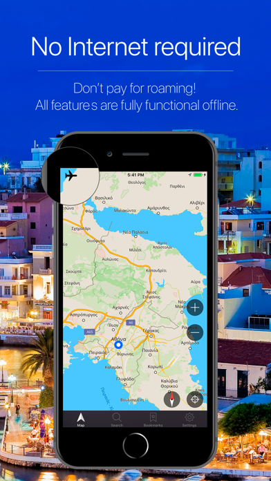 Greece Offline Navigation Screenshot