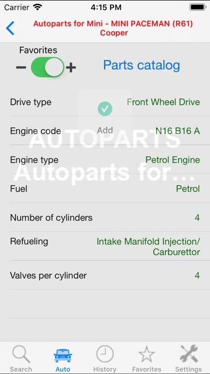 Autoparts for Mini screenshot-4