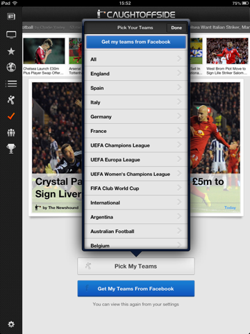 Caught Offside for iPad screenshot 1