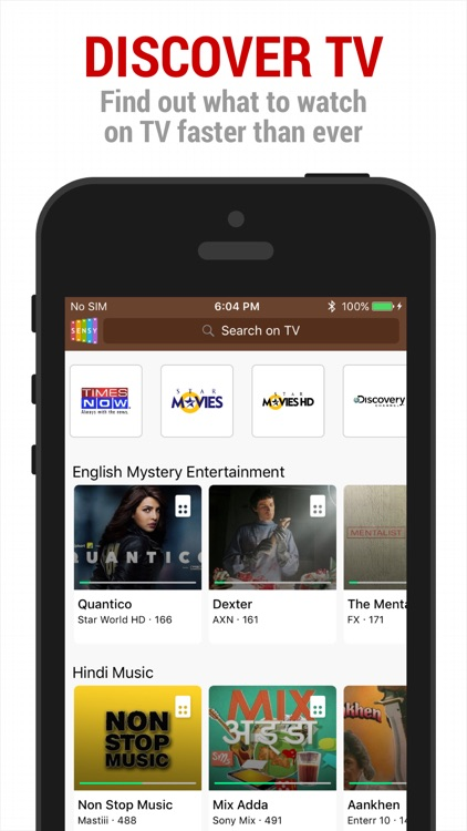 Sensy India TV Guide & Remote screenshot-0