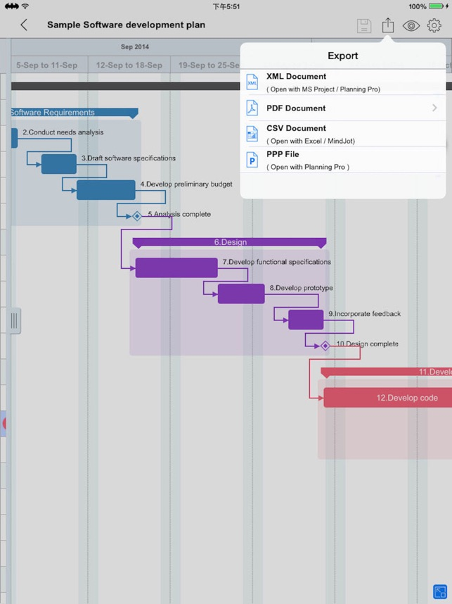 Gantt Charts Project Timeline On The App Store
