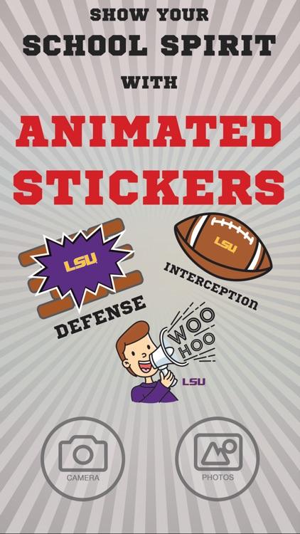 LSU Tigers Animated Selfie Stickers