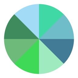 Segments turquoise series