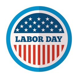 Labor Day - USA stickers