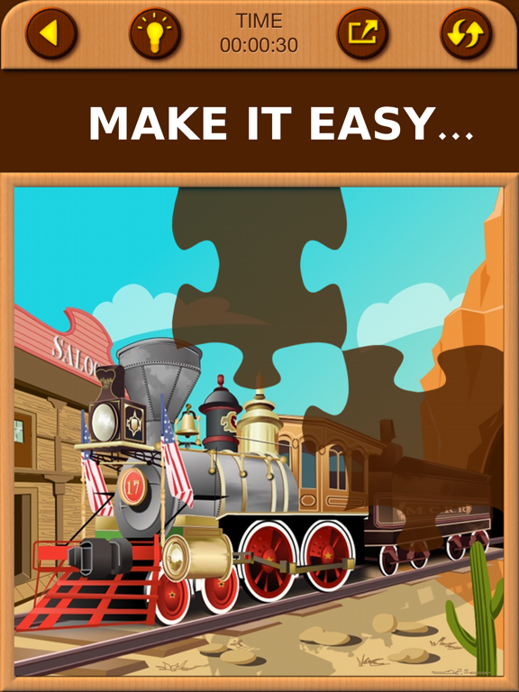 Train Games - Free Educational Jigsaw Puzzles for Kids and Preschool Toddler Learning Railway Vehicle Engine Transport and Love Locomotive Labs Power screenshot