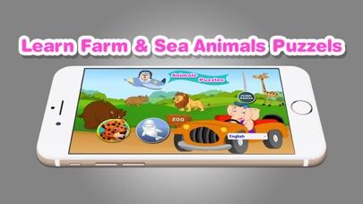 Learn Farm Sea Animals Puzzles screenshot one