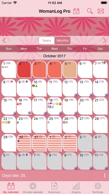 WomanLog Pro Calendar screenshot-0