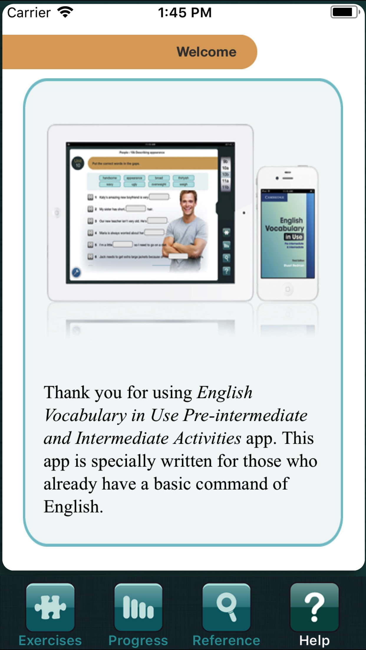 Vocabulary in Use Intermediate Screenshot