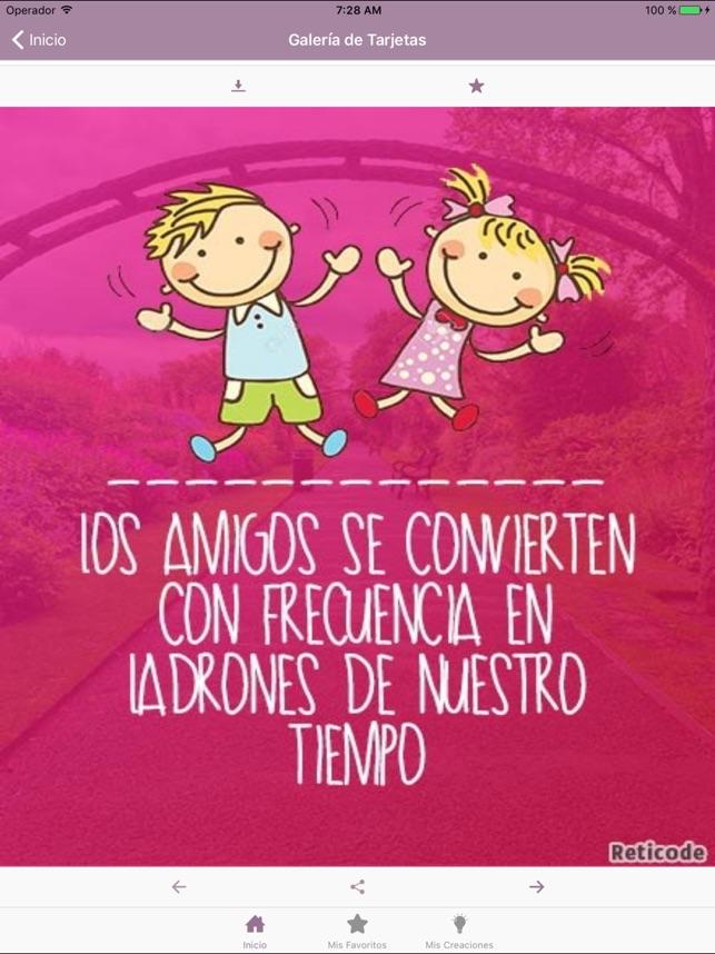 Frases De Amistad Y Amigos En App Store