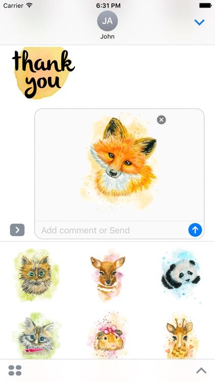Watercolor Emoji Stickers for iMessage & WhatsApp