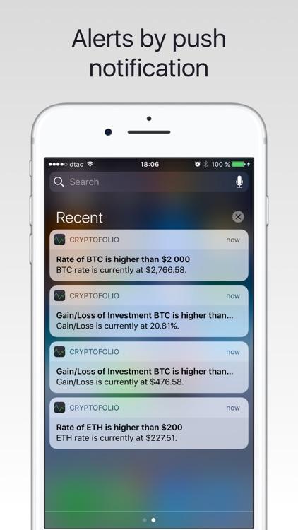 Cryptofolio - Portfolio for Bitcoin, Ethereum, ...
