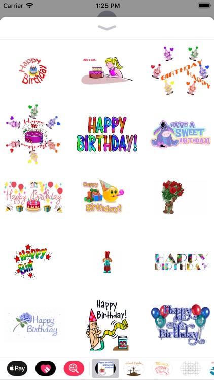birthday animated stickers screenshot-3