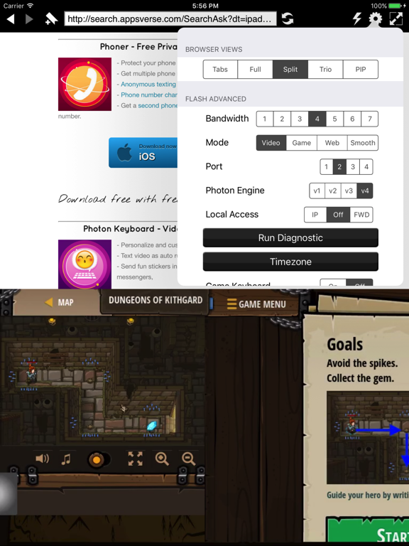 Photon Flash Player for iPad - Flash Video & Games plus Private Web Browser screenshot
