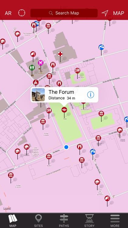 Pompeii Map - Travel Guide screenshot-3