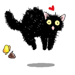 Catmoji - Adorabel Black Cat Sticker
