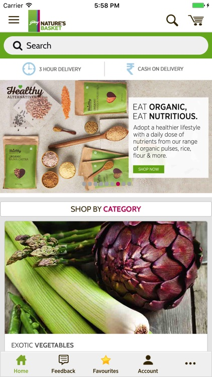 Nature's Basket - Online Grocery Shopping App