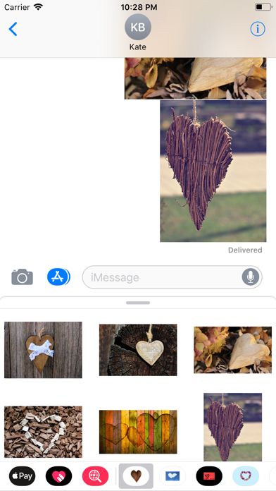 Rustic Hearts Sticker Pack screenshot four