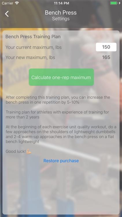 Bench Press 16 weeks screenshot-4